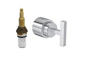 """Acabamento para Registro 4916 C84 PQ de Pressão com Mecanismo MVR 1/2"""" a 1"""" Stick Deca"""