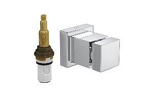 """Acabamento para Registro 4916 C86 PQ de Pressão com Mecanismo MVR 1/2"""" a 1"""" Cubo Deca"""