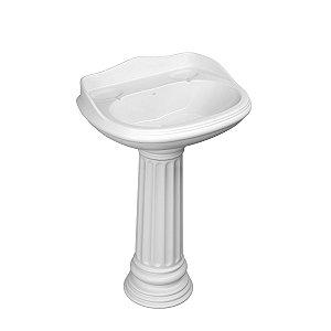 Lavatório para Banheiro L-171 GE17 Windsor 56X50cm Branco Deca