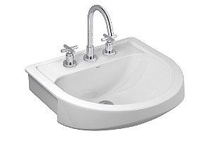 Lavatório para Banheiro L-62 Carrara Semi Encaixe Branco Deca
