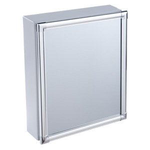 Armário Alumínio para Banheiro de Sobrepor 36x44x10cm Cinza AL44 Astra