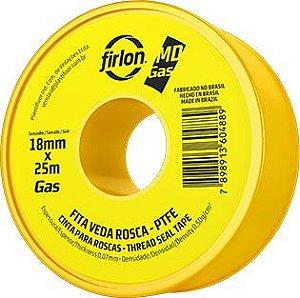 Fita Veda Rosca 18mm x 25mt MD Gás Firlon