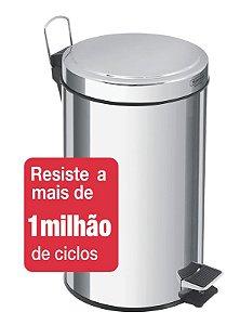 Lixeira Inox com Pedal Brasil 20 litros Tramontina