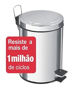 Lixeira Inox com Pedal Brasil 5 litros Tramontina