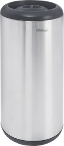 Lixeira Inox com Tampa Preta Capsula 15 litros Tramontina