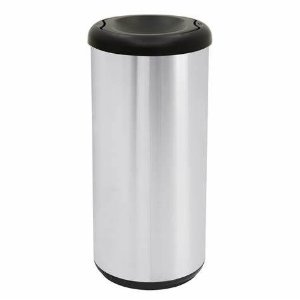 Lixeira Inox Capsula Selecta Plus Basculante Preto 40 litros Tramontina