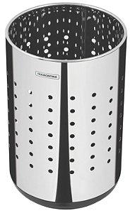 Lixeira Inox Capsula Dots 10 litros Tramontina