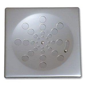 Grelha Quadrada Inox sem Caixilho com Fecho Cromada 10cm 002-P Estilmax