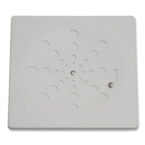 Grelha Quadrada Inox sem Caixilho com Fecho Branca 10cm 002-C Estilmax