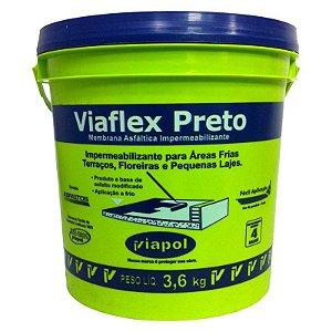 Viaflex Preto 3,6kg Viapol