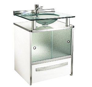 Gabinete Cris-Mold 50cm com Gaveta Branca Ref.994 Cris-Metal