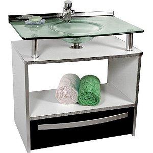 Gabinete Cris-Mold 50cm com Gaveta Preta Ref.995 Cris-Metal