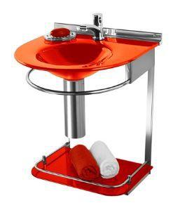 Lavabo Cris-Mold 50cm Ref.973 Vermelho Cris-Metal