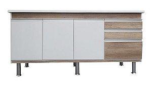 Gabinete de Cozinha Ferrara 175cm Carvalho Corso