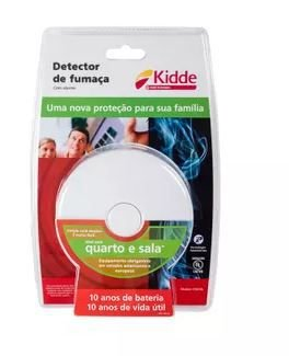 Detector de Fumaça para Quarto e Sala Kidde