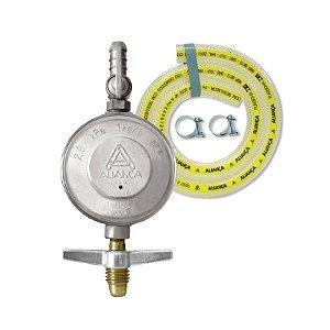 Regulador de Gás Doméstico 1kg/h com Mangueira 1,20cm 504/01 Aliança