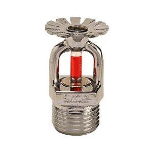 Sprinkler RTR 15mm Pendente Vermelho 68C° Cromado Skop