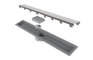 Ralo Linear Elleve Smart PVC Seco Tampa Inox 60cm 260 Ralo Linear