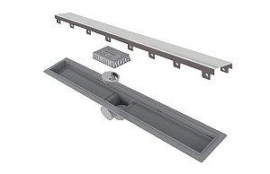 Ralo Linear Elleve Smart PVC Seco Tampa Inox 70cm 261 Ralo Linear
