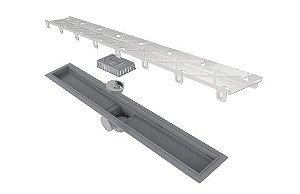 Ralo Linear Elleve Smart PVC Seco Tampa Oculta 70cm 263 Ralo Linear