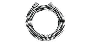 Ligação Flexível Corrugada para Duchas Cromado x Preto 2,0m 1/2''(FxF) 210105 Blukit