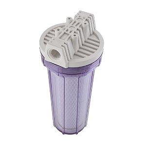 """Filtro Ponto de Uso 9.3/4"""" Acquacarbon Transparente para Torneira 907-0018 Hidrofiltros"""