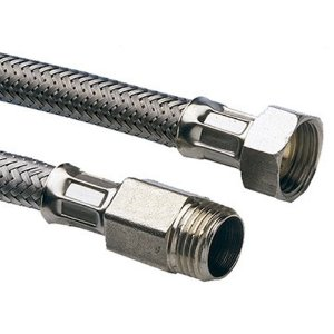 Engate Flexível com Trama em Aço Inox Jumbo para Aquecedor 1/2 x 30cm Emmeti