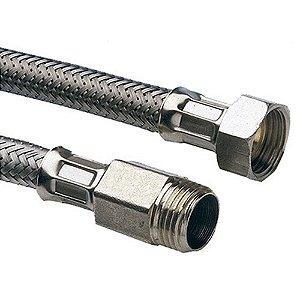 Engate Flexível com Trama em Aço Inox Jumbo para Aquecedor 1/2 x 40cm Emmeti