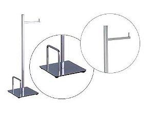 Coluna de Piso 50cm com Papeleira e Revisteiro Quada Crismoe