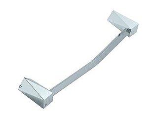 Porta Toalha Barra 60cm Crystal Cromado Crismoe