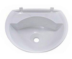 Lavatório Plástico para Banheiro 3,8 Litros LV2 Branco Astra