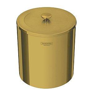 Lixeira Útil em Aço Inox Polido Dourado 5 Litros 94540/051 Tramontina