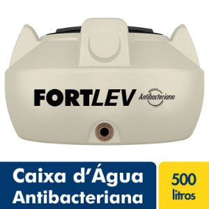 Tanque Polietileno 500L Antibacteriano Bege Fortlev