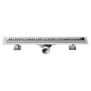 Ralo Retangular Linear Sifonado em Inox 304 50cm Ref. ROSRET Odem