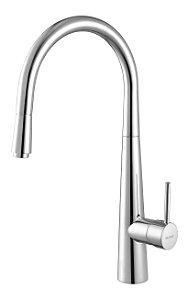 Misturador de Cozinha Monocomando Mesa 2885 C75 Cromado com Flexível Móvel Meber