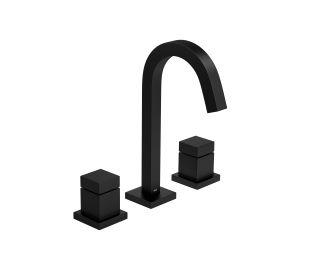 Misturador de Lavatório Bica Alta Cubo 1877.BL86.MT Black Matte Deca
