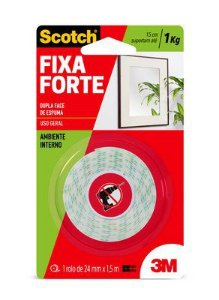Fita Dupla Face Fixa Forte 113 24mmx1,5m 3M