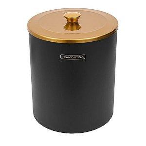 Lixeira Útil Gold Mix com Balde de Plástico Preto 5L Ref. 94540/054 Tramontina