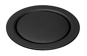 Grelha Redonda Black Matt 10x10cm de Pressão Meber