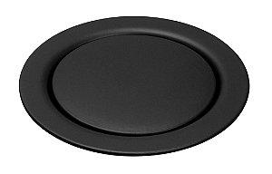 Grelha Redonda Black Matt 15x15cm de Pressão Meber