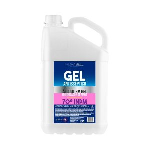 Álcool Gel 70% INPM Antisséptico 5 litros Hidrabell
