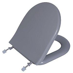 Assento Sanitário Calypso PP Almofadado TCP/K Cinza Platina 48 Astra
