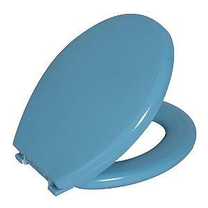 Assento Sanitário Convencional PP Almofadado TPK/AS Azul 1 Astra
