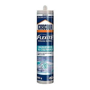 Silicone Cascola Flexite Banheiro/Cozinha 280g Branco Henkel
