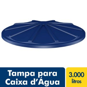 Tampa para Caixa D'água Polietileno 3.000L Fortlev