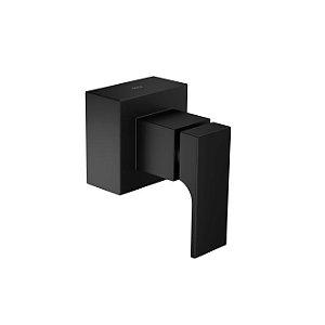 """Acabamento para registro de gaveta de 1.1/4"""" e 1.1/2"""" Unic 4900.BL90.GD.MT Black Matte Deca"""