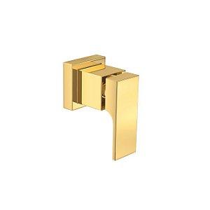 """Acabamento para Registro de Gaveta até 1"""" Unic 4900.GL90.PQ Gold Deca"""