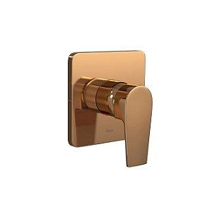 Acabamento Monocomando de Chuveiro para Alta e Baixa Pressão Level 4993.GL26.CHU.RD Red Gold Deca