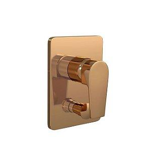 Acabamento para Monocomando 4 Vias Level 4994.GL26.RD Red Gold Deca