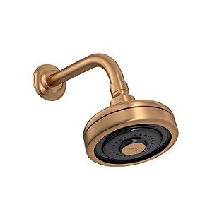 Chuveiro com Tubo de Parede Acqua Plus 1990.GL.STD.MT Gold Matte Deca
